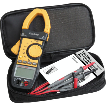 Edison EDI5163800K AUTO RANGE DIGITAL CLAMPMETER 1000A AC/DC