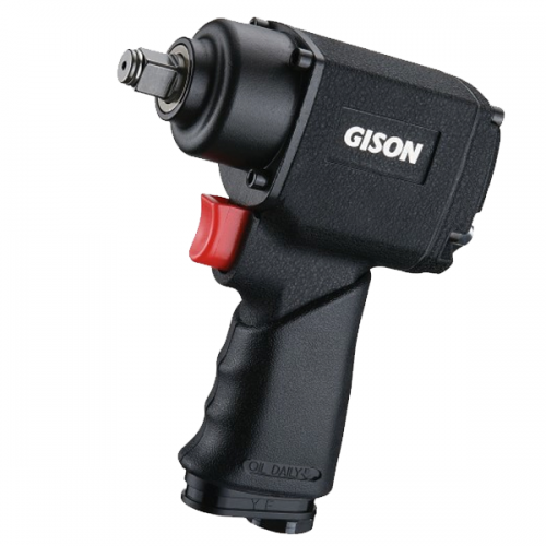 Gison GW-17T Pneumatic Impact Wrench 1/2″ Twin Hammer (400ft.lb)
